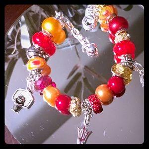 Jewelry - Arizona State European Charm Bracelet